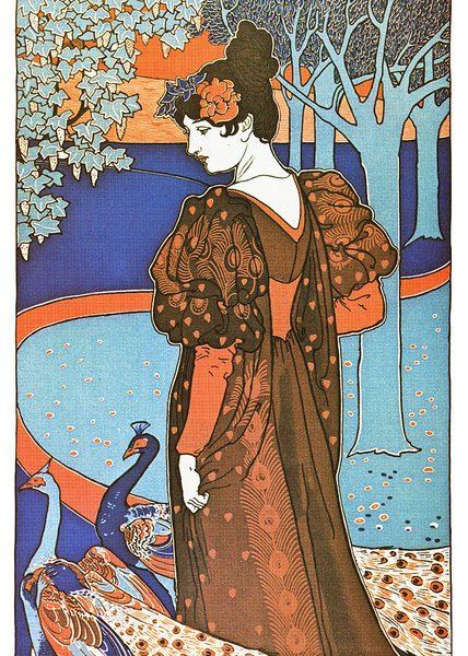L'Estampe moderne: La Femme au paon. Photo: MCAD Library @Flickr