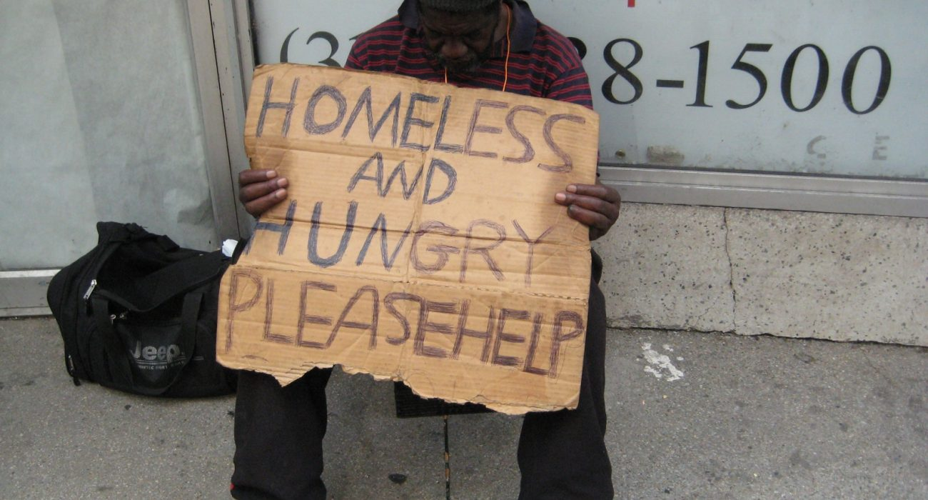 The homeless and hungry need help. Photo: popclick @Flickr