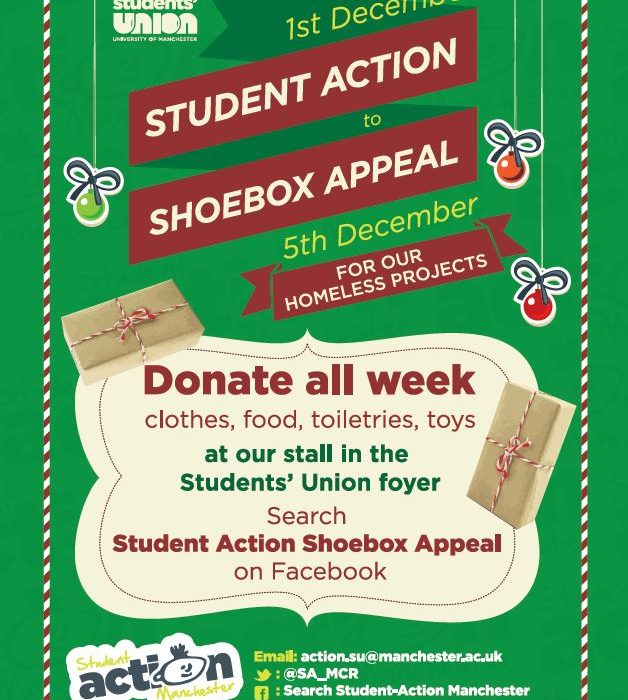 Christmas Shoe Box Appeal.Student Action Manchester Christmas Shoebox Appeal The