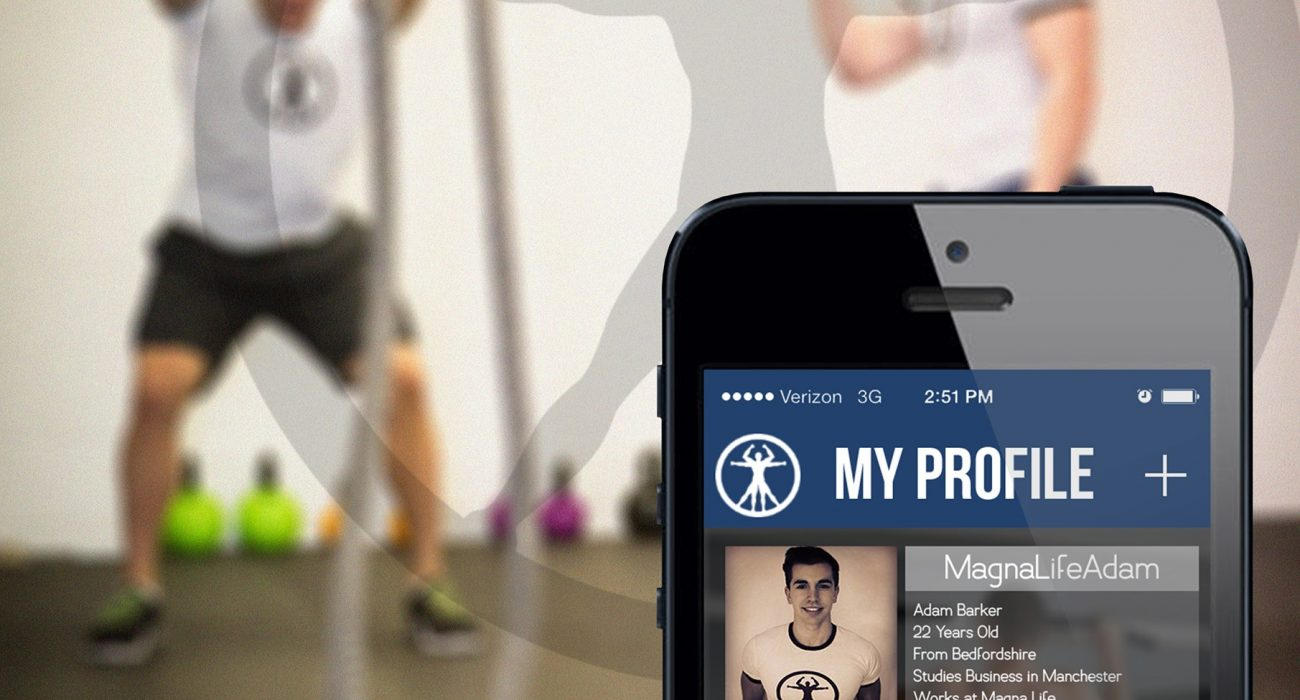 Preview of what the app will look like. Photo: Magna Life