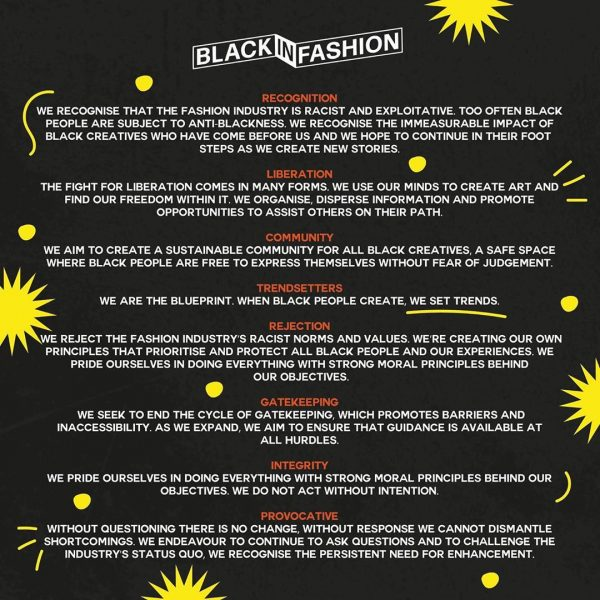 Black in Fashion manifesto