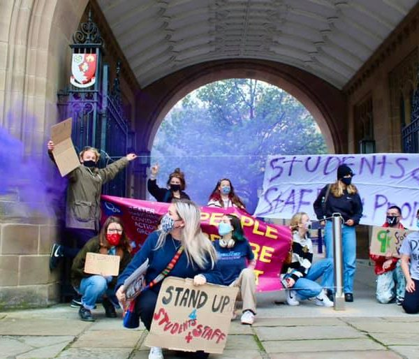UoM students protesting