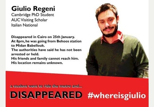 Photo: Where is Giulio Regeni campaign