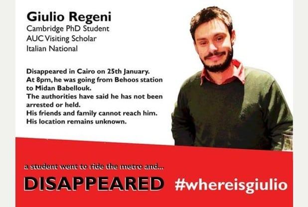 Photo: Where is Giulio Regeni campaign