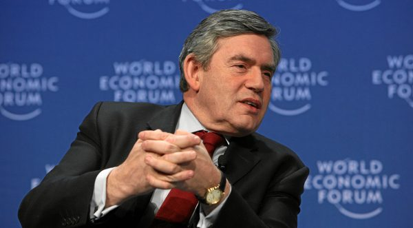 Gordon Brown at the world economic forum