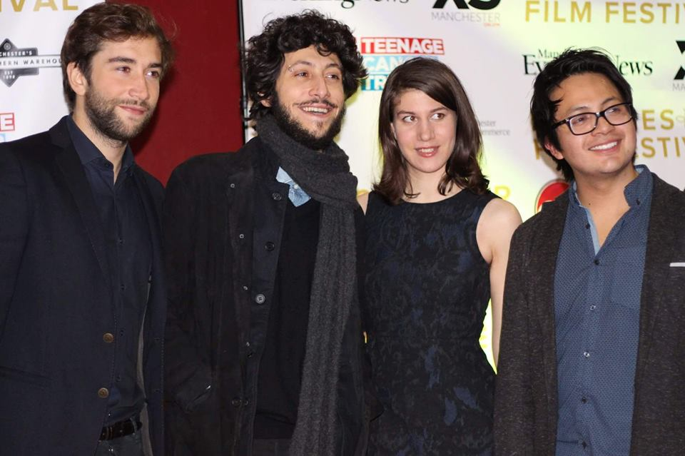 Pretending to be famous on the red carpet. Photo: Alice Holloway