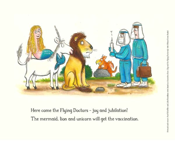 Image based upon children's book Zog and the Flying Doctors