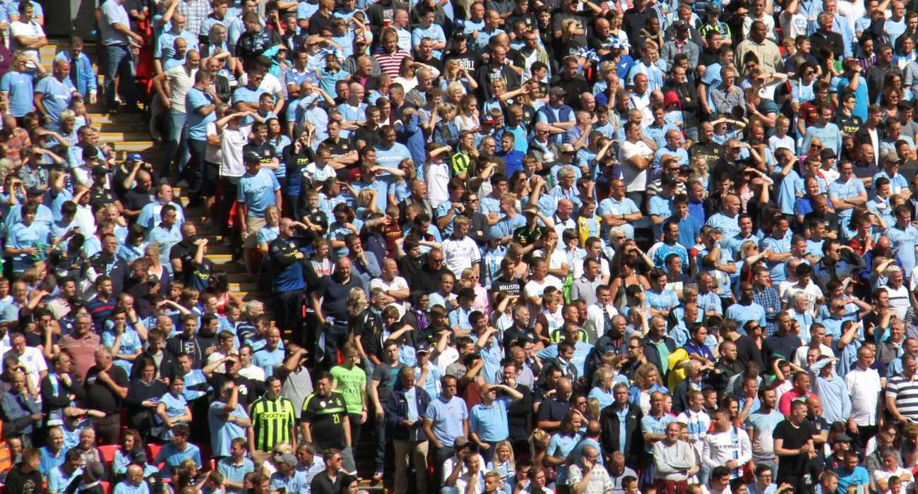 Photo: City fans at Wembley in 2014 after their last trip in the Community Shield.