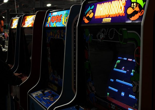 Other arcades titles included: Fix it Felix Jr, Traverse USA, Burgertime, Blasteroids, Gorf, Robotron 2004 and Karate Champ. Photo: Lee Dyer @Flickr