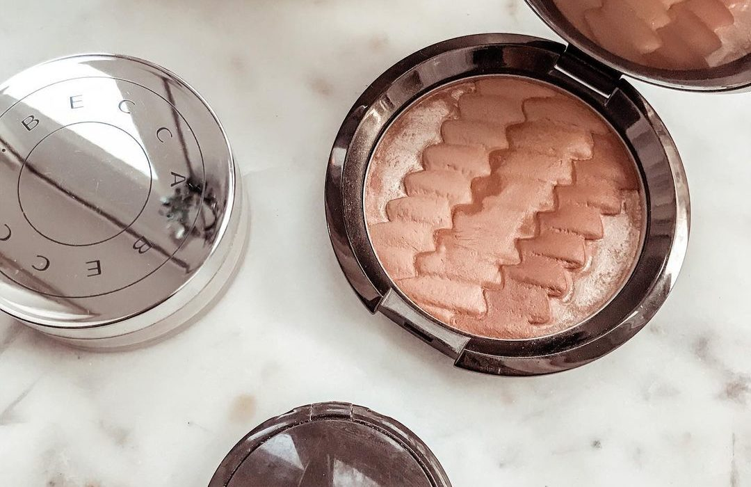 Becca cosmetics highlighter and makeup products
