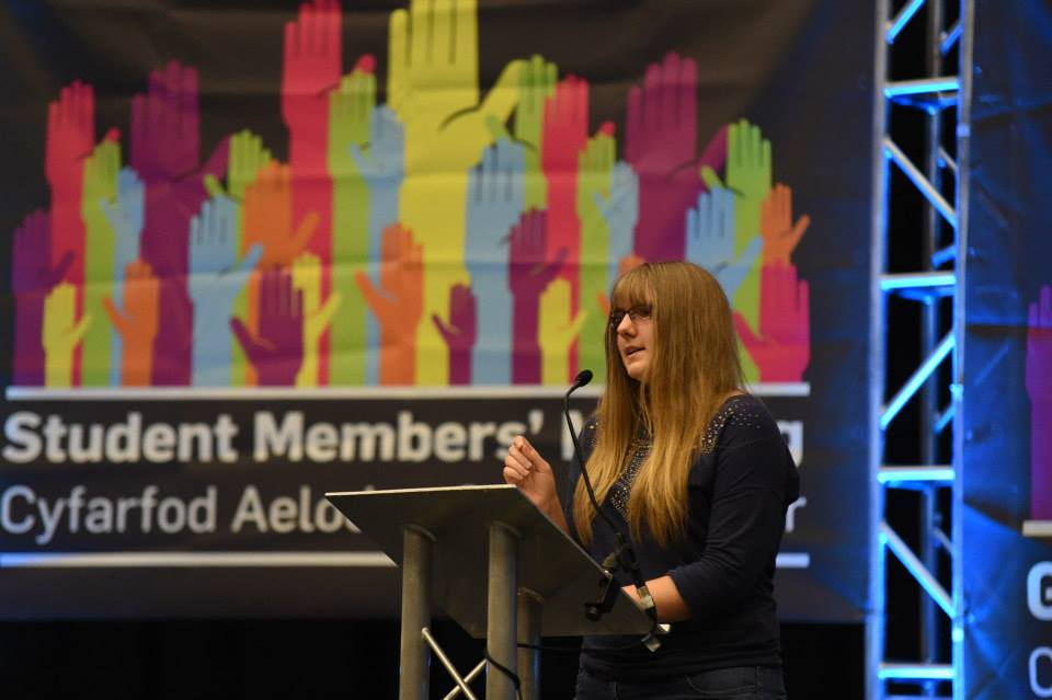 Rachael Melhuish, Chair of Cardiff Women's Association speaking at the AGM. Photo@Facebook