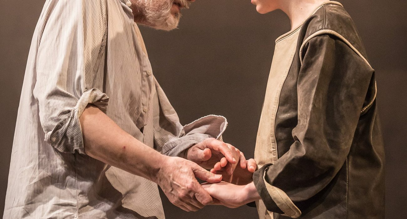 Michael Pennington with Beth Cooke as Cordelia Photo: Marc Brenner