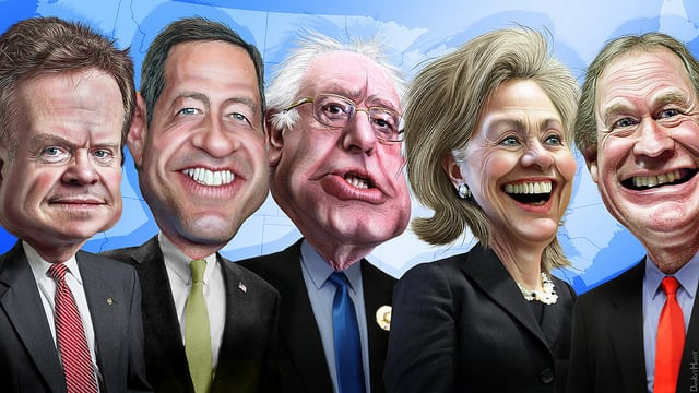 Just some of the Democratic candidates. Photo: DonkeyHotey @Flickr.