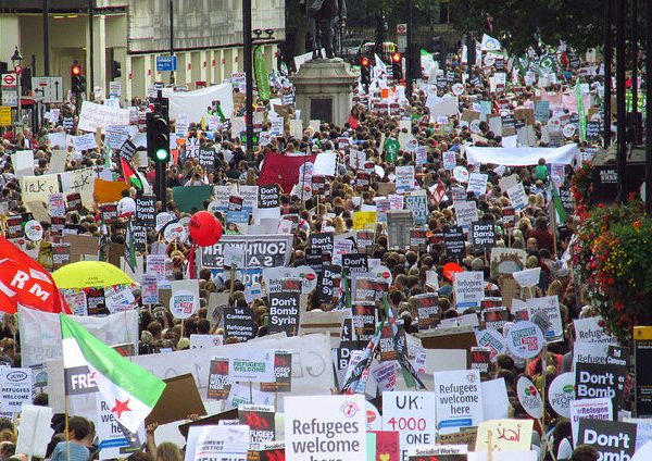 Thousands have turned up in solidarity with the refugees at marches across the country. Photo: zongo @Flickr
