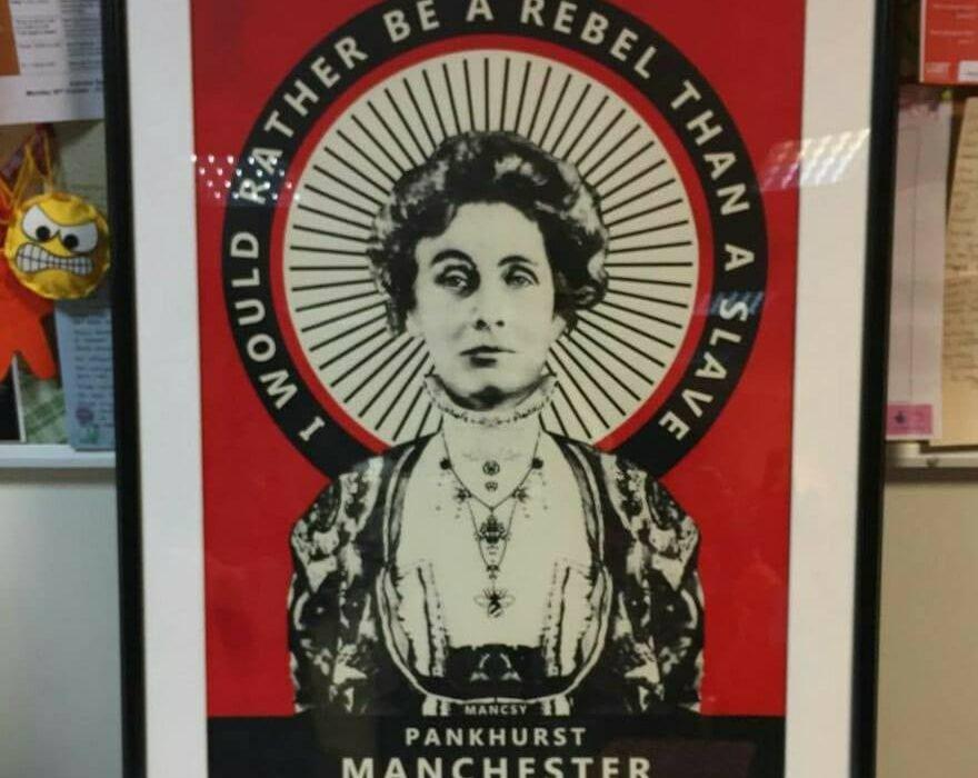 Pankhurst Punk by Mancsy Photo: Eleanor Forrest