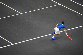 Roger Federer at the Laver's Cup