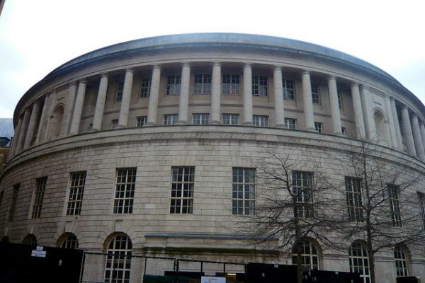 Manchester Central Library before its renovation.