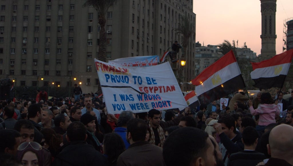 Protesters in Egypt's Tahrir Square. Photo: Joseph Hill @Flickr