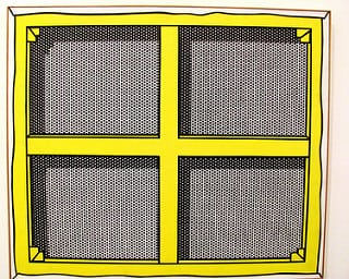 Roy Lichtenstein, Stretcher Frame with Vertical Bars III (1968). Photo: rocor @Flickr