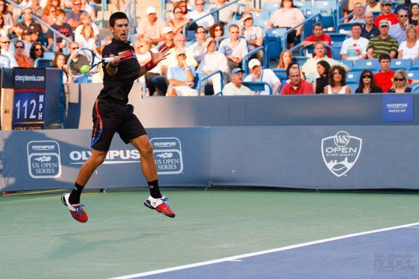 Djokovic in action