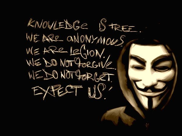 Hacking activist group Anonymous has targeted Queen Mary University of London