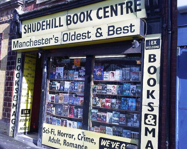 Amazon is pushing small independent bookshops, like the Shudehill Book Centre in Shudehill out of business. Photo: alexinleeds @Flickr