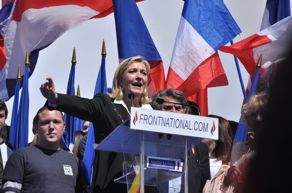 Meeting 1er mai 2012 Front National. Photo: Blandine Le Cain @ Flickr