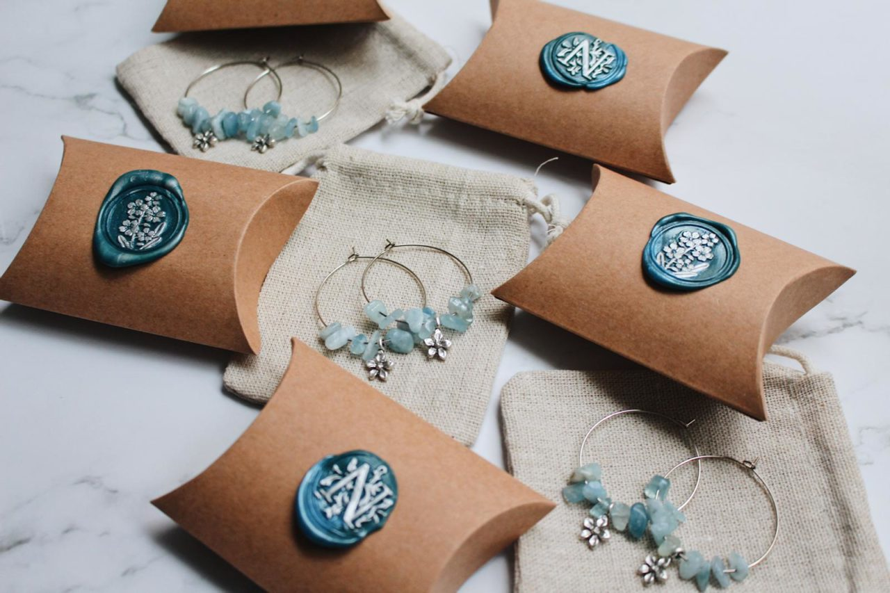 Niche by T earings and packaging
