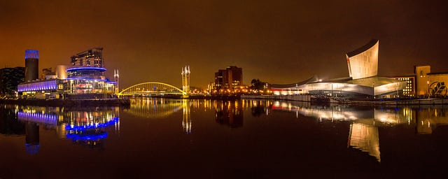 The Lowry, Manchester (right). Photo: stopherjones @Flickr