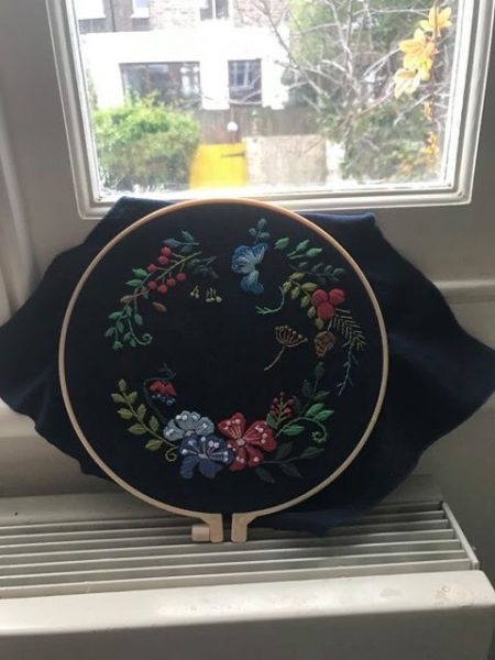 Ivy Rogers' lockdown embroidery creations