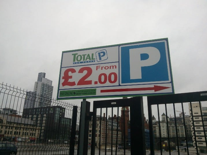 The Oxford Road site now offers car parking from £2. Photo: Anthony Organ