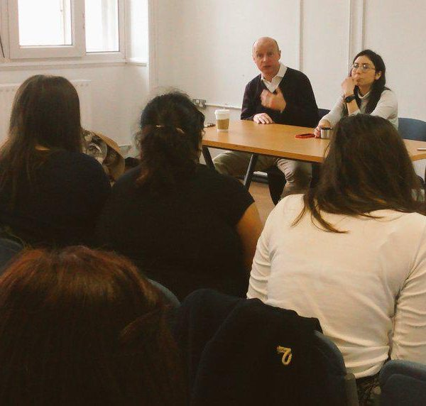 Labour's Liam Byrne held a question and answer session at the Students' Union. Photo: @LiamByrneMP on Twitter