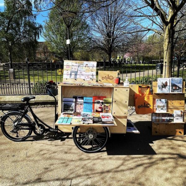 Catalog bookshop outside MMU