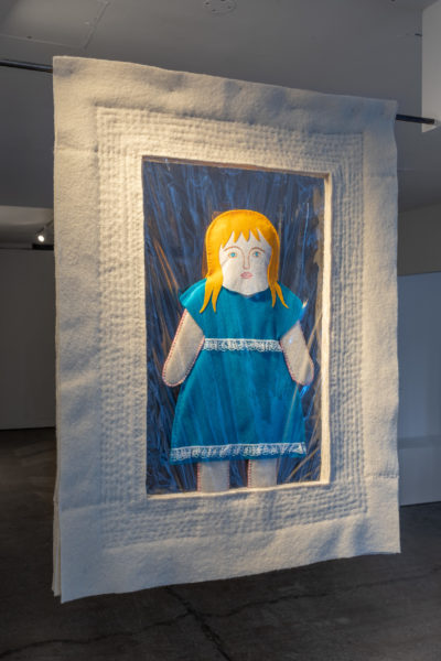 The Mancunion: Claire Hignett, Do Be Careful… (2020). British wool, PVC, felt, wool and silk tops, water soluble fabric. Image courtesy Jules Lister