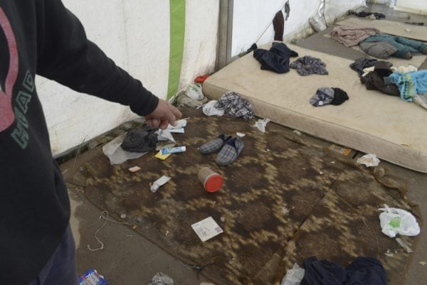 Is it right that we allow any person to live in conditions like this? Photo: Daniel Saville
