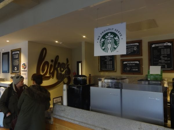 """Biko's Cafe began selling Starbucks on Friday - a decision branded """"hypocritical"""" heading into 'Earth Week' this week Photo: Michael Williams"""