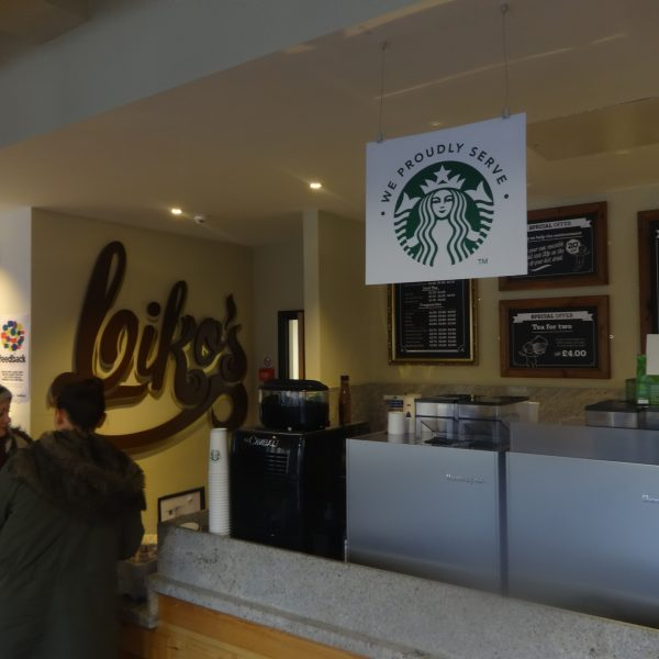 "Biko's Cafe began selling Starbucks on Friday - a decision branded ""hypocritical"" heading into 'Earth Week' this week Photo: Michael Williams"