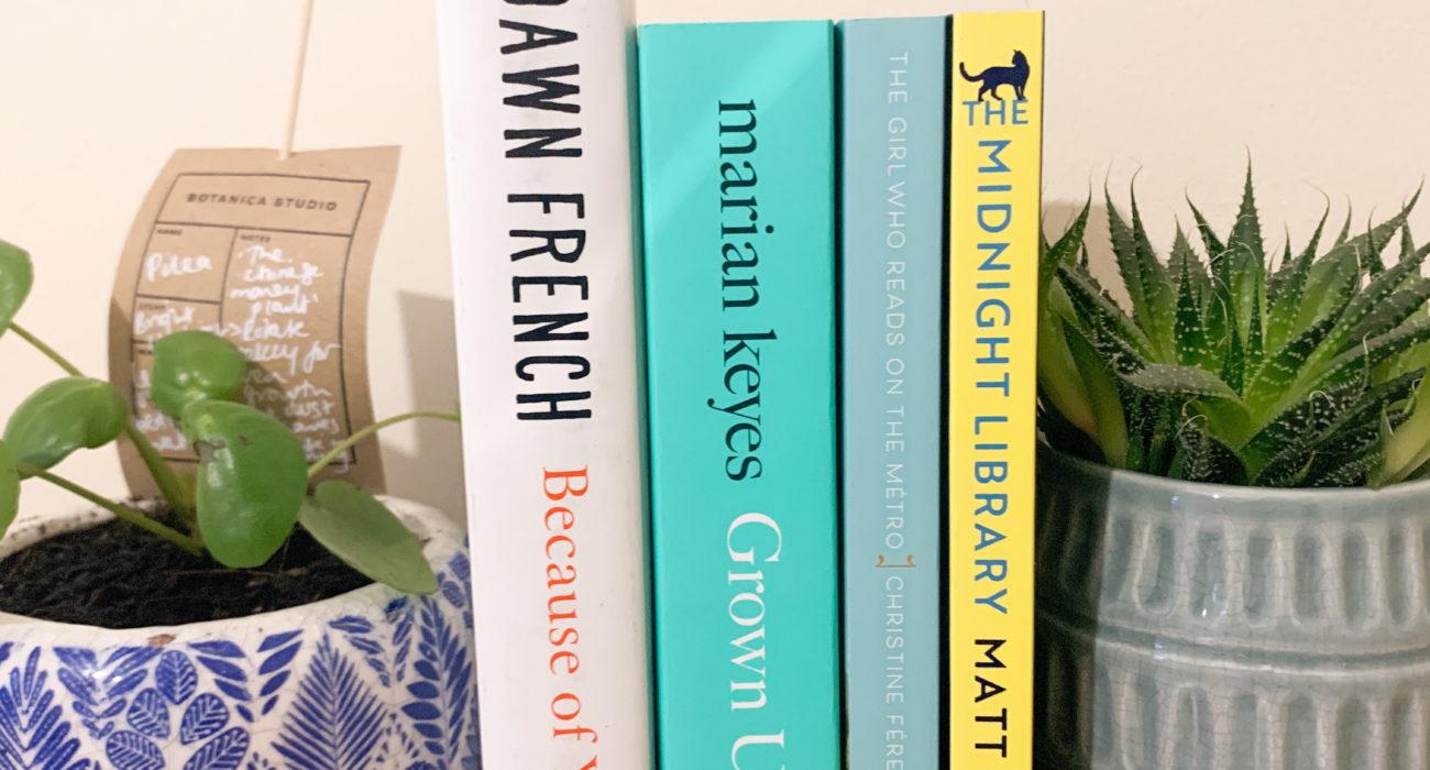 Photo of Ellen's bookshelf from her bookstagram