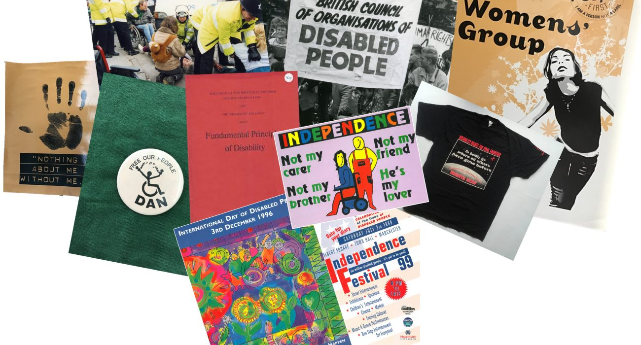 GMCDP archive photo courtesy of Greater Manchester Coalition of Disabled People