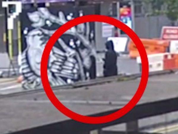 George Floyd mural graffiti suspect