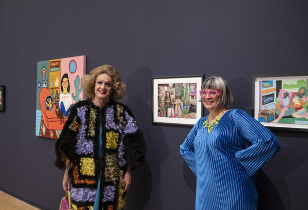 Grayson Perry and Philippa Perry in Manchester Art Gallery