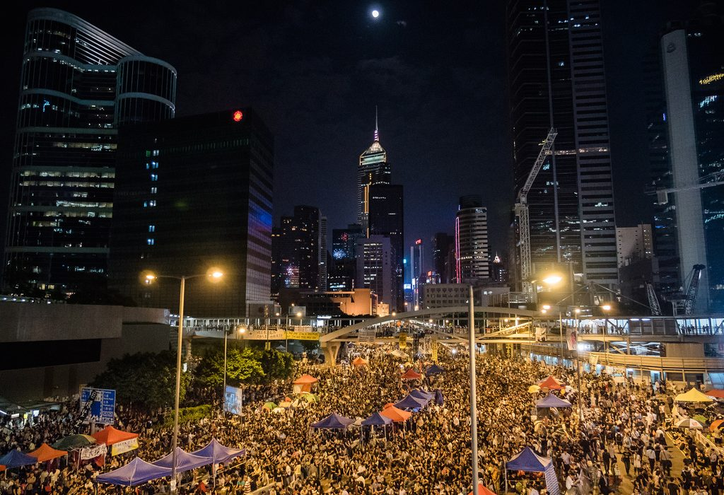 Thousands of protesters marched in Hong Kong for 79 days last year to advocate universal suffrage. Photo: Pasu Au Yeung @Flickr