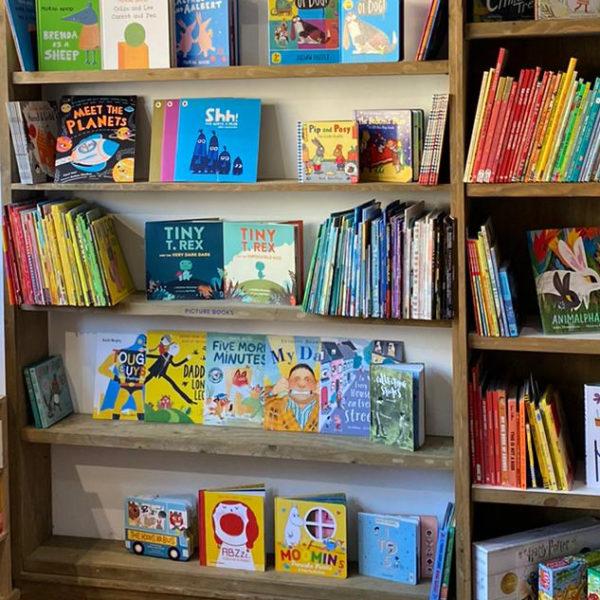 Life in lockdown: children's books edition. Photo of a children's bookshop