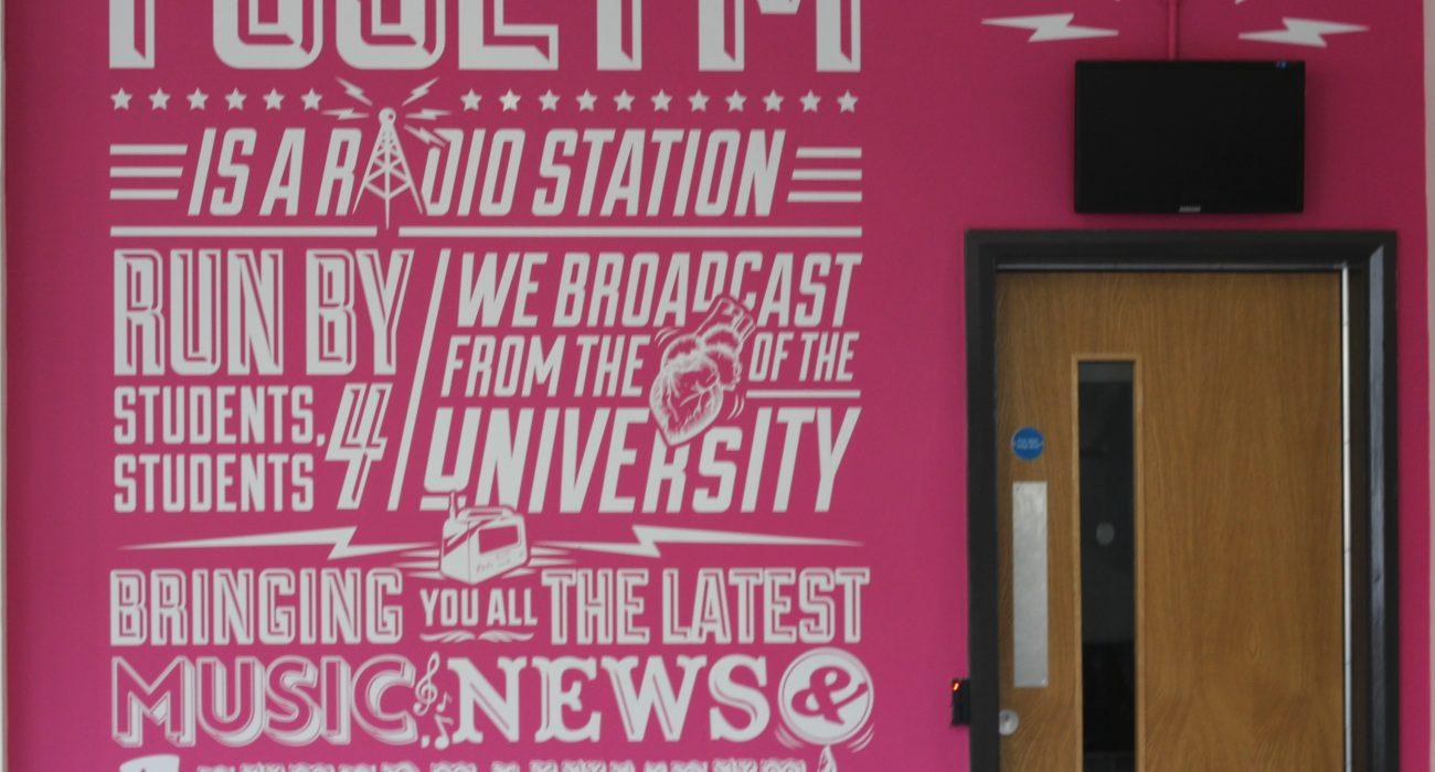 Fuse FM studio, which has benefited from alumni donations. Photo: Lauren Gorton