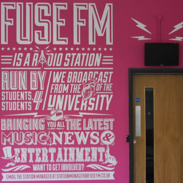 Fuse FM studio, which has benefited from alumni donations. Photo: Lauren Gorton