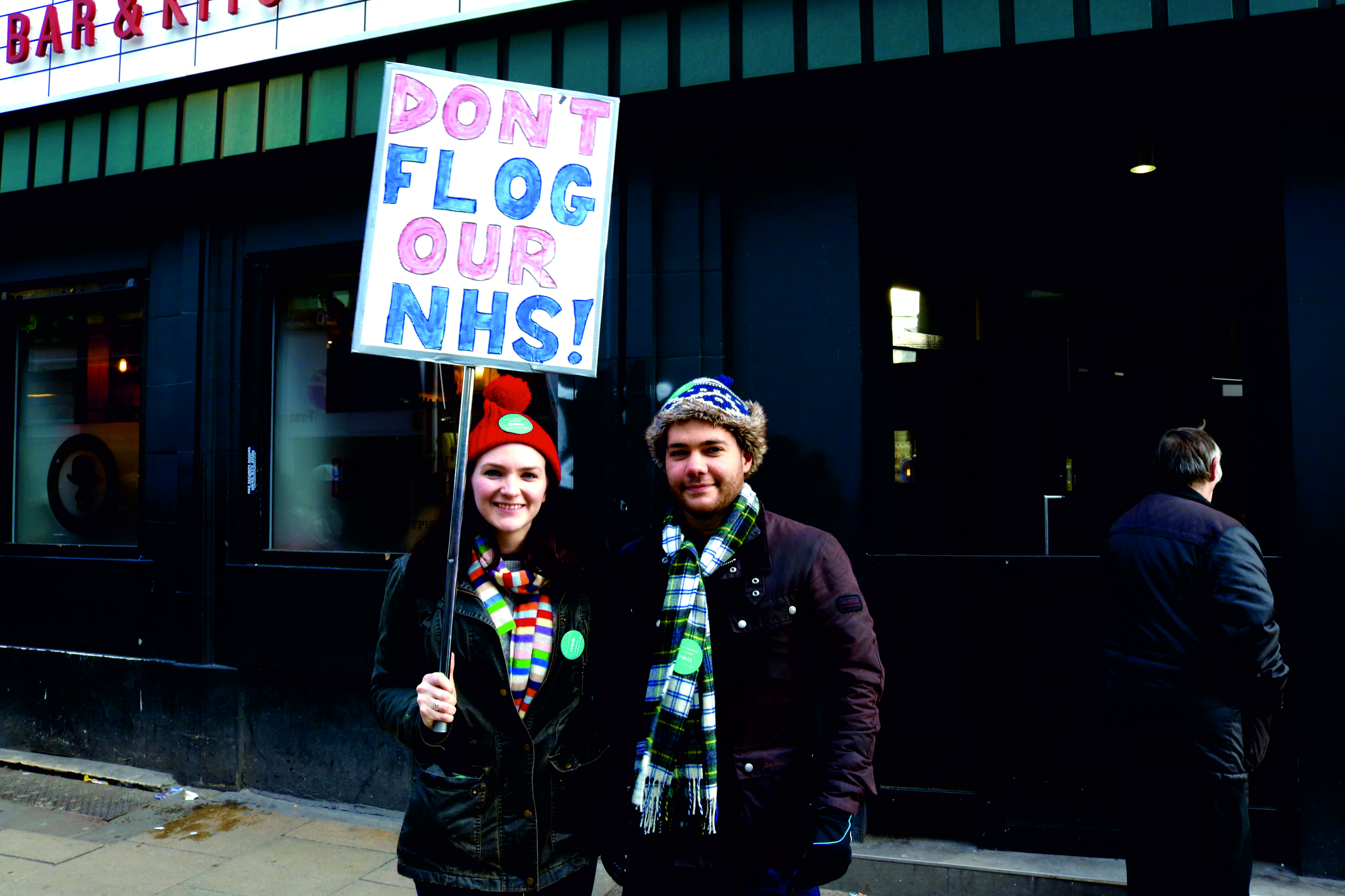Junior doctors Kate and Alex. Photo: The Mancunion