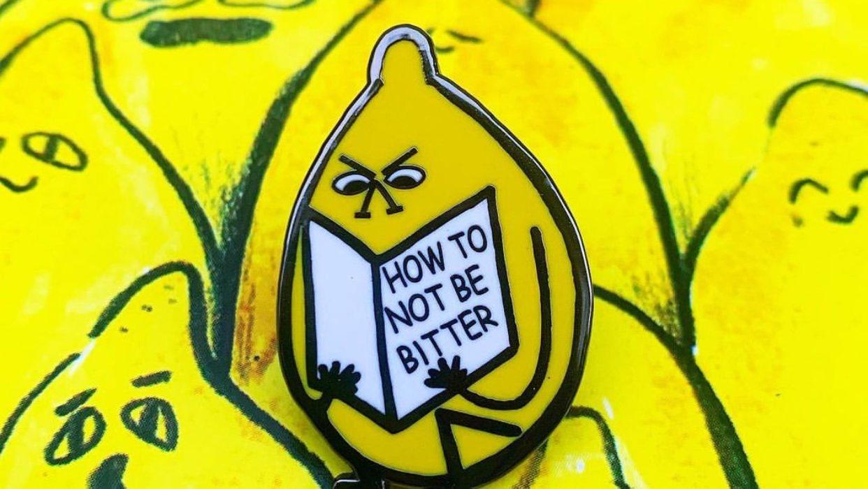 Bitter lemon enamel pin by 2Bmcr
