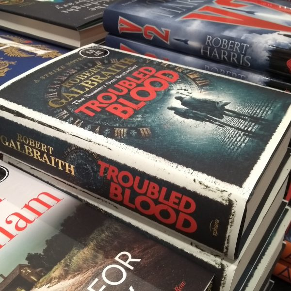 Troubled Blood on sale in bookshop