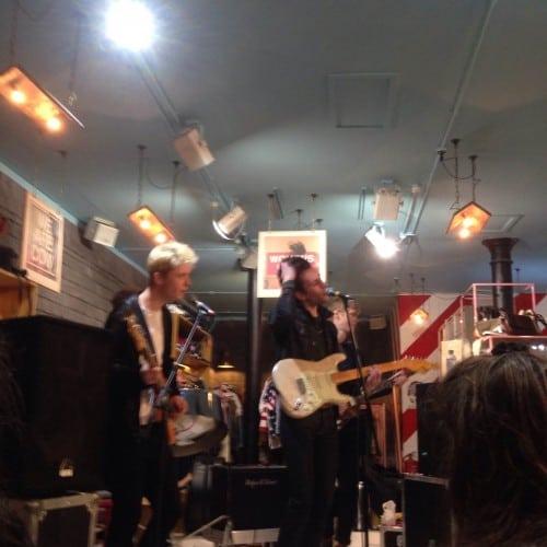 Indie-rock band VITAMIN at COW vintage store in Manchester last week. Photo: Kate Muir