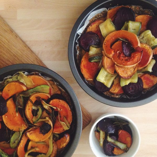 Whole foods: Roasted squash, beetroot and pistachio galette. Photo: The Mancunion
